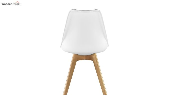 Eames Replica Solid Wood Legs Iconic Chair (White)-5