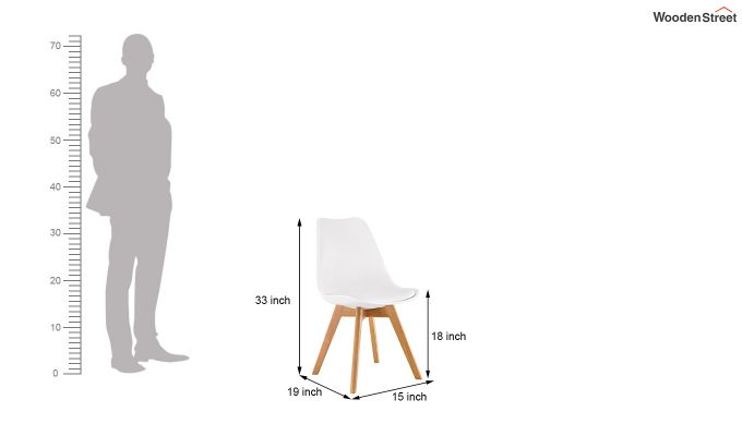 Eames Replica Solid Wood Legs Iconic Chair (White)-6