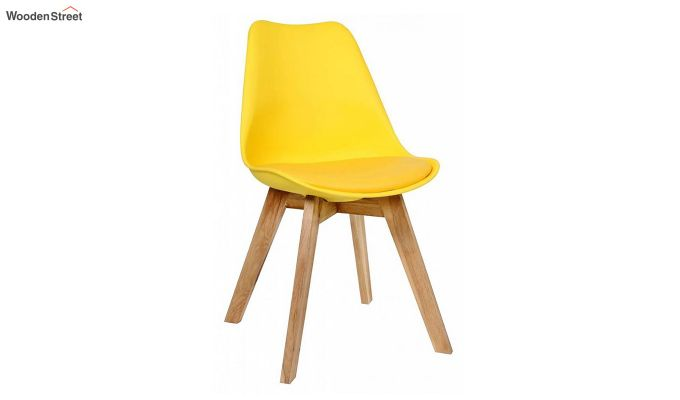 Eames Replica Solid Wood Legs Iconic Chair (Yellow)-2