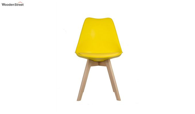 Eames Replica Solid Wood Legs Iconic Chair (Yellow)-3