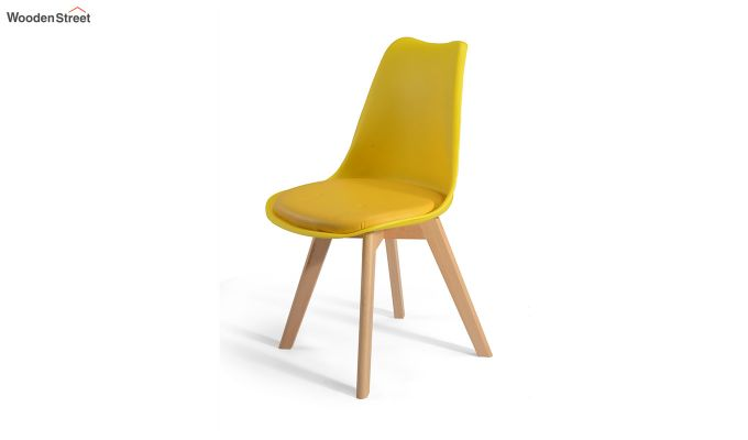 Eames Replica Solid Wood Legs Iconic Chair (Yellow)-4