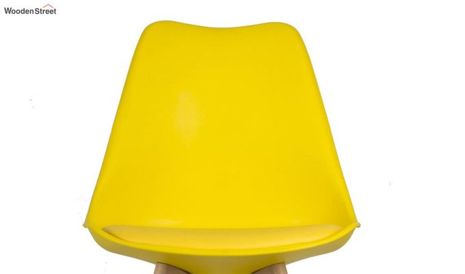 Eames Replica Solid Wood Legs Iconic Chair (Yellow)-5