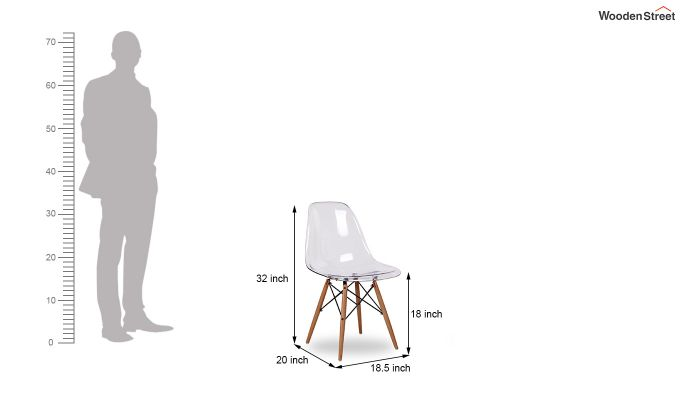 Modern Eames Mid Century Transparent Iconic Chair-5