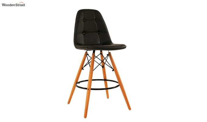 Scandinavian Style Eames DSW Natural Wood Iconic Chair (Black)-1