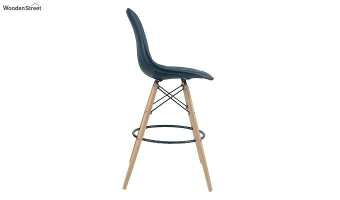 Scandinavian Style Eames DSW Natural Wood Iconic Chair (Black)-2