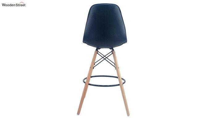 Scandinavian Style Eames DSW Natural Wood Iconic Chair (Black)-3