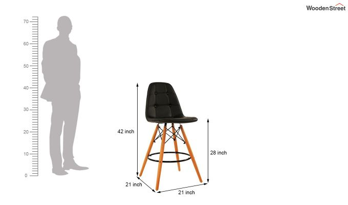 Scandinavian Style Eames DSW Natural Wood Iconic Chair (Black)-4