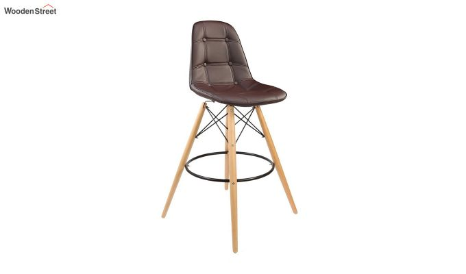 Scandinavian Style Eames DSW Natural Wood Iconic Chair (Brown)-1