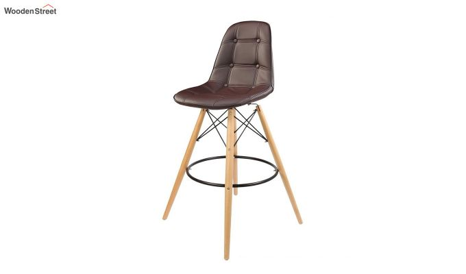 Scandinavian Style Eames DSW Natural Wood Iconic Chair (Brown)-2