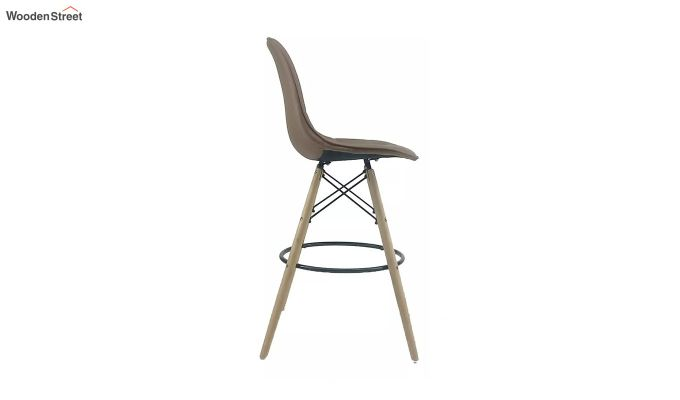 Scandinavian Style Eames DSW Natural Wood Iconic Chair (Brown)-3
