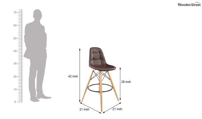 Scandinavian Style Eames DSW Natural Wood Iconic Chair (Brown)-5