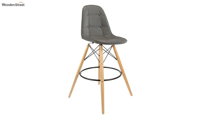 Scandinavian Style Eames DSW Natural Wood Iconic Chair (Grey)-1