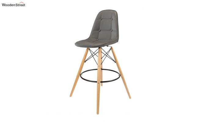 Scandinavian Style Eames DSW Natural Wood Iconic Chair (Grey)-2