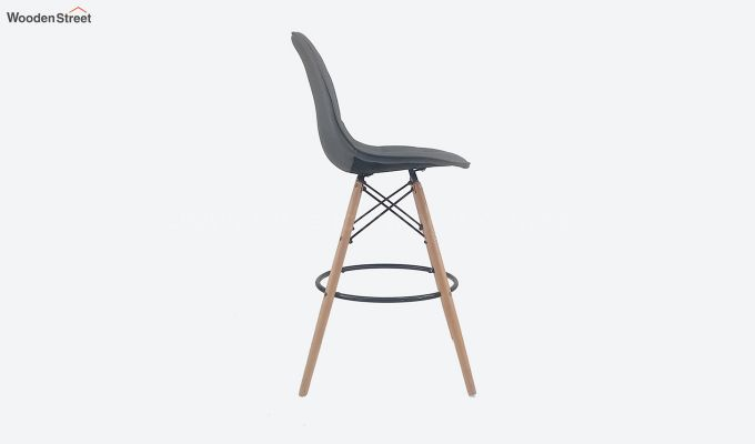 Scandinavian Style Eames DSW Natural Wood Iconic Chair (Grey)-3