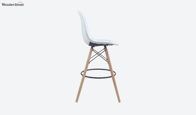 Scandinavian Style Eames DSW Natural Wood Iconic Chair (White)-2