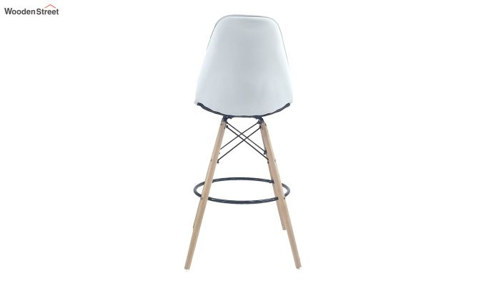 Scandinavian Style Eames DSW Natural Wood Iconic Chair (White)-5