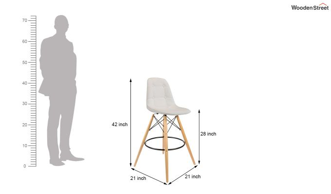 Scandinavian Style Eames DSW Natural Wood Iconic Chair (White)-6