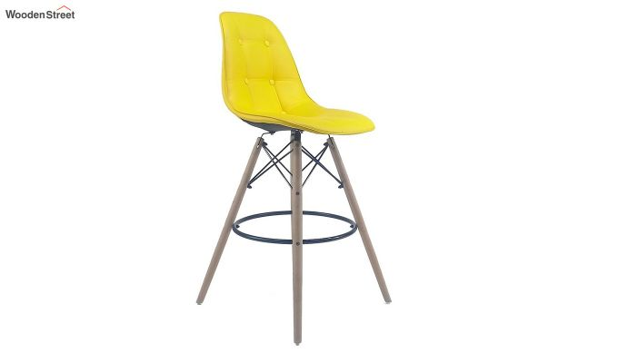 Scandinavian Style Eames DSW Natural Wood Iconic Chair (Yellow)-1