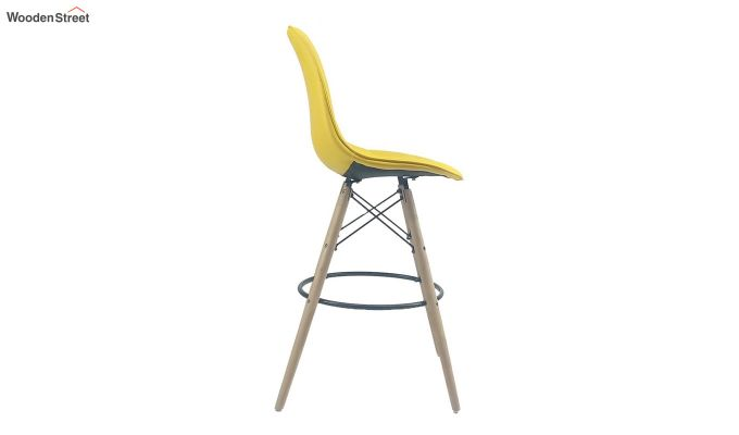 Scandinavian Style Eames DSW Natural Wood Iconic Chair (Yellow)-3