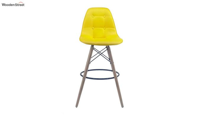 Scandinavian Style Eames DSW Natural Wood Iconic Chair (Yellow)-4