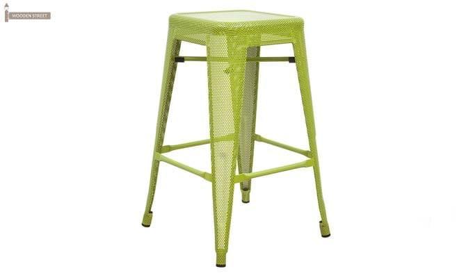 Alba Iron Stool (Green)-1