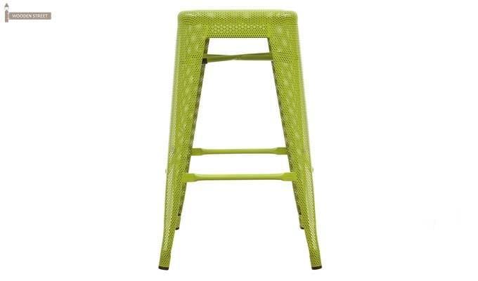 Alba Iron Stool (Green)-2