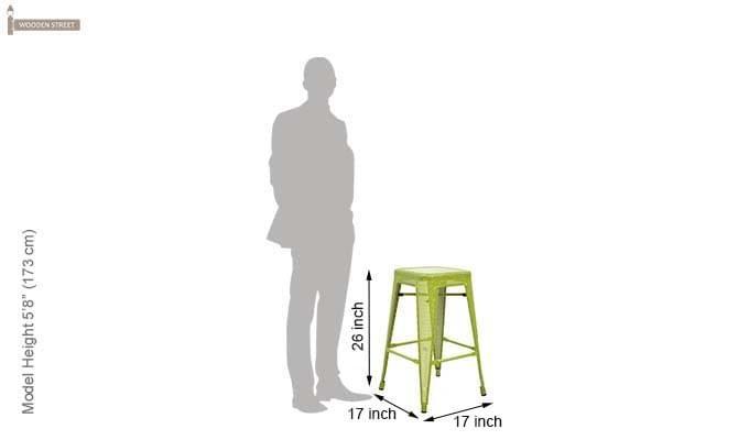 Alba Iron Stool (Green)-4