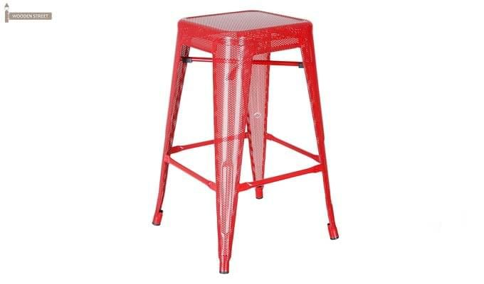 Alba Iron Stool (Red)-1