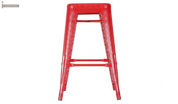 Alba Iron Stool (Red)-2