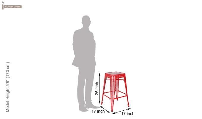 Alba Iron Stool (Red)-4