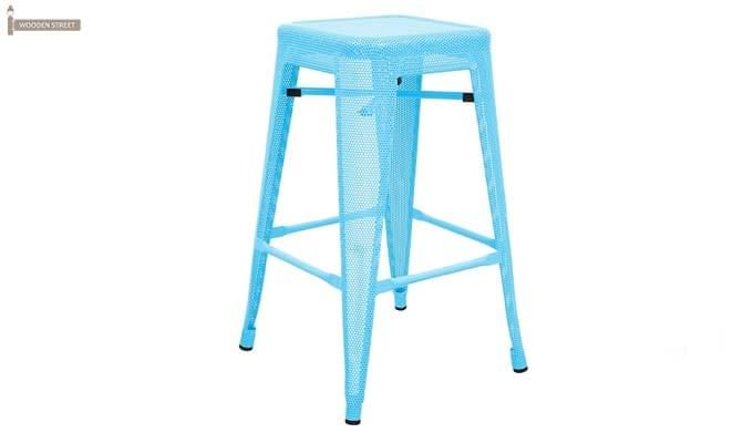 Alba Iron Stool (Sky Blue)-1