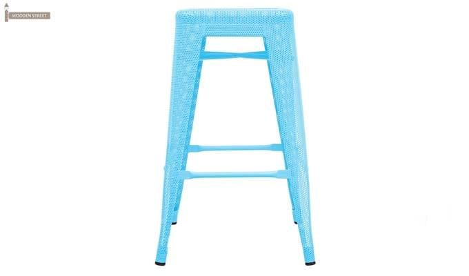 Alba Iron Stool (Sky Blue)-2