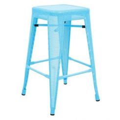 Alba Iron Stool (Sky Blue)