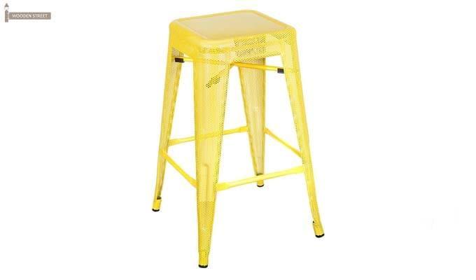 Alba Iron Stool (Yellow)-1