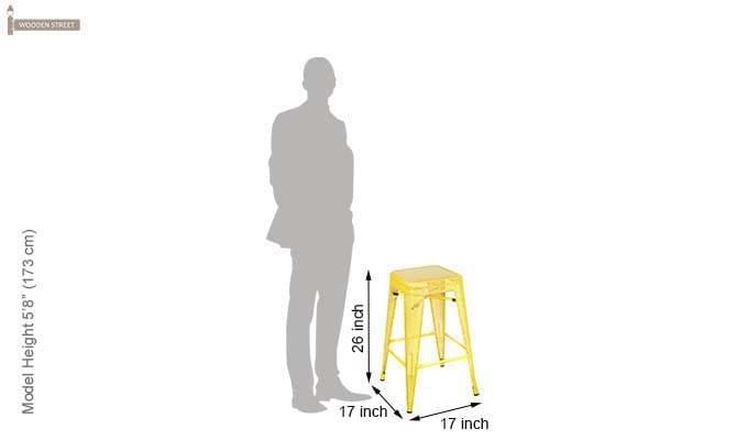 Alba Iron Stool (Yellow)-4