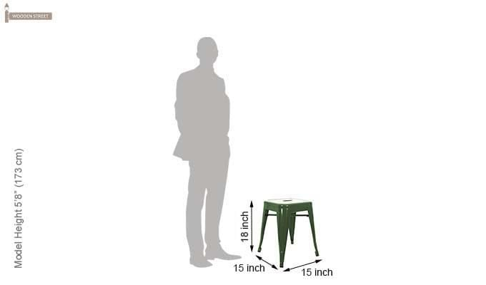 Billy Iron Stool (Green)-4