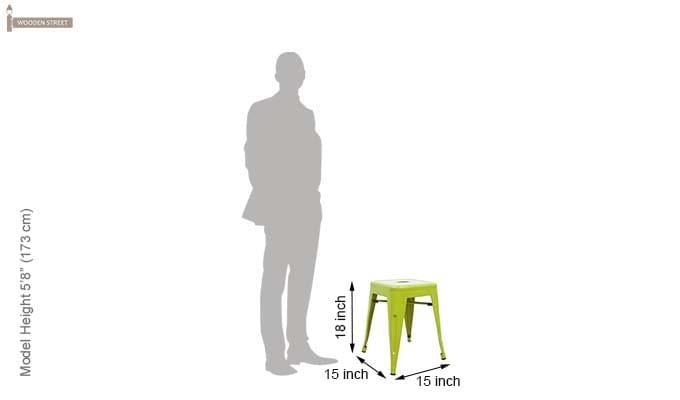 Billy Iron Stool (Light Green)-4