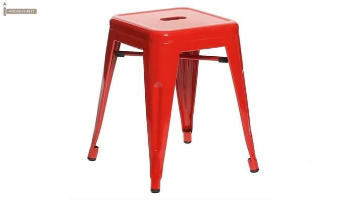 Billy Iron Stool (Red)-1