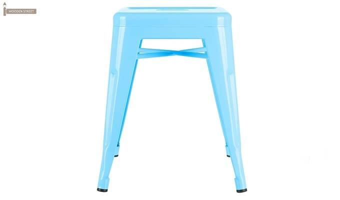 Billy Iron Stool (Sky Blue)-2