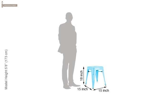 Billy Iron Stool (Sky Blue)-4