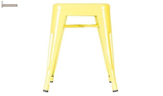 Billy Iron Stool (Yellow)-2