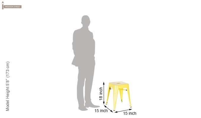 Billy Iron Stool (Yellow)-4