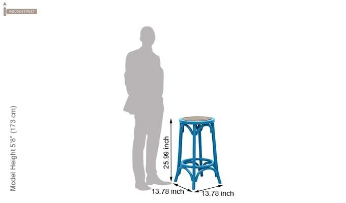 Flint Iron Stool (Blue)-3