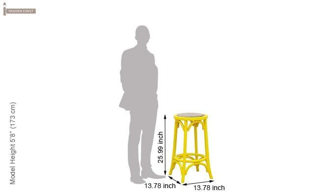 Flint Iron Stool (Yellow)-3