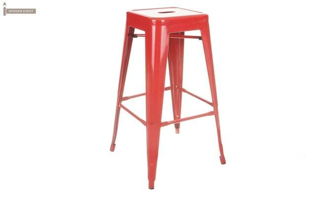 Rhine Iron Stool (Red)-1