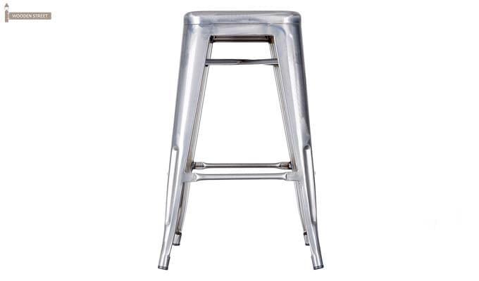 Rhine Iron Stool (Silver)-2