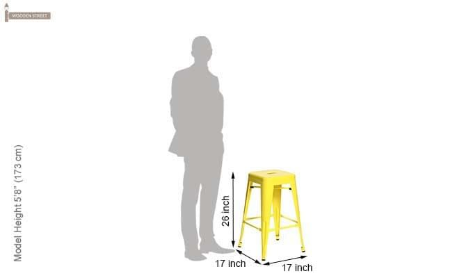 Rhine Iron Stool (Yellow)-4