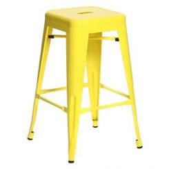 Rhine Iron Stool (Yellow)