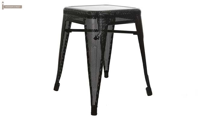 Ursula Iron Stool (Black)-1
