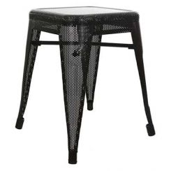 Ursula Iron Stool (Black)